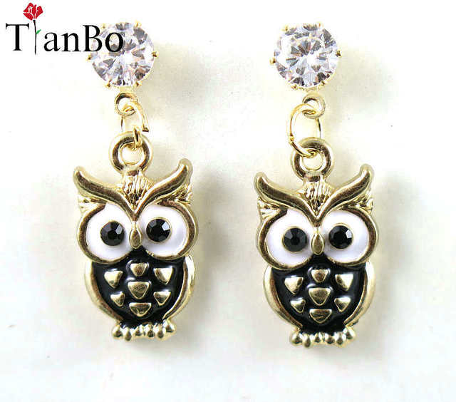 TianBo Jewelry Black Owl...