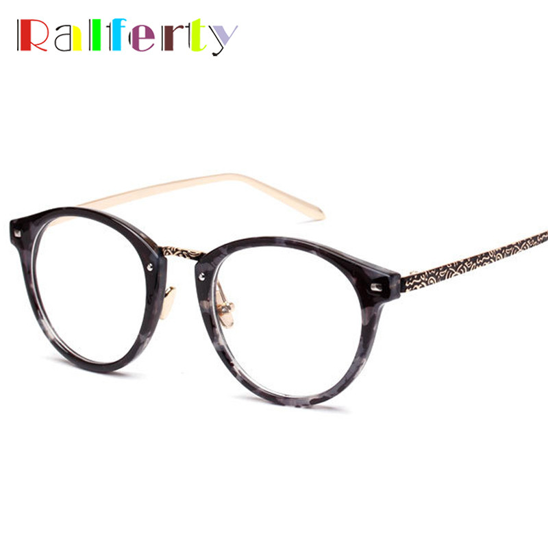 ΞRalferty vintage óptico Gafas Marcos retro grabado cristal ...