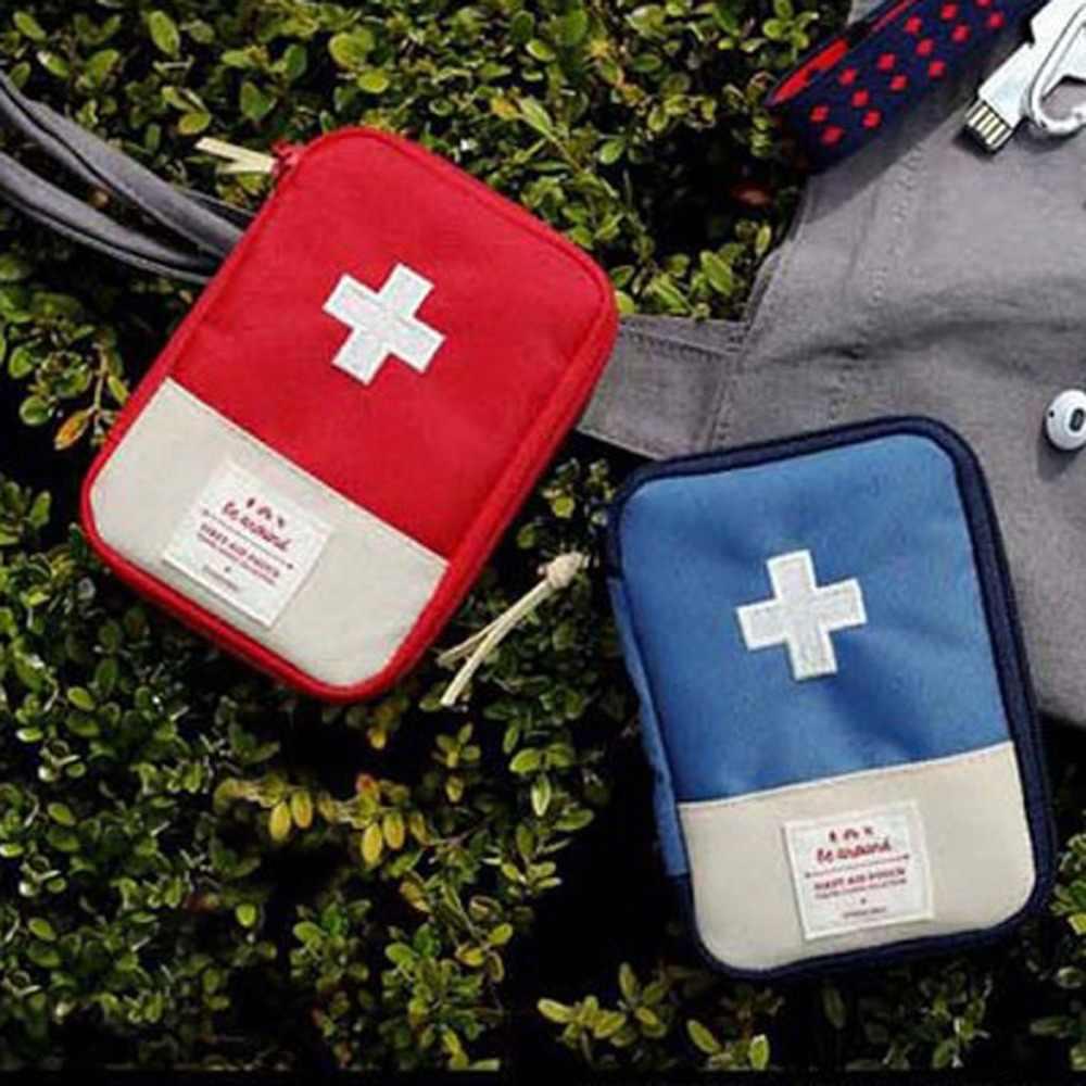 Przenośna pamięć masowa torba pierwszej pomocy awaryjna torba na leki Outdoor Pill Survival Organizer zestawy awaryjne pakiet akcesoria podróżne