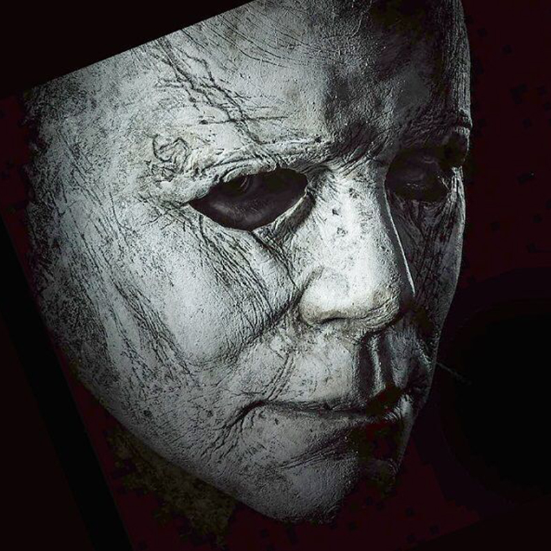 Halloween 2018 Michael Myers Face.Us 12 99 20 Off Hot Michael Myers Mask Movie Halloween Horror Cosplay Adult Latex Full Face Helmet Halloween Party Scary Props Toy In Party Masks