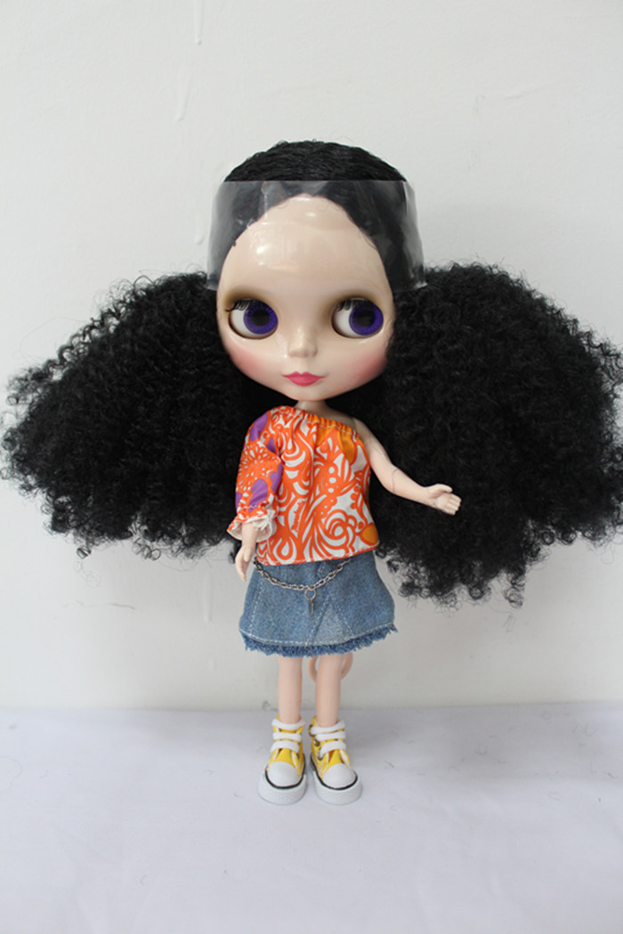 Free Shipping big discount RBL-178DIY Nude Blyth doll birthday gift for girl 4colour big eyes dolls with beautiful Hair cute toy free shipping big discount rbl 288diy nude blyth doll birthday gift for girl 4colour big eyes dolls with beautiful hair cute toy