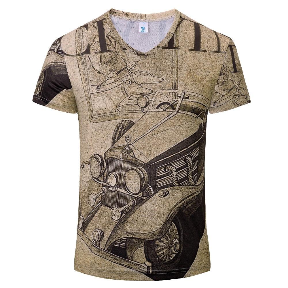 2017 Summer V Neck T Shirt Fashion Style 3d Tees N Tops