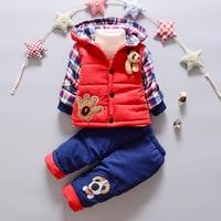 Kinder Set Baby mädchen Kleidung sets winter 0-3year hoody Unten Jacke + Hose Wasserdicht Schnee Warme kinder Kleidung anzug 3 farbe