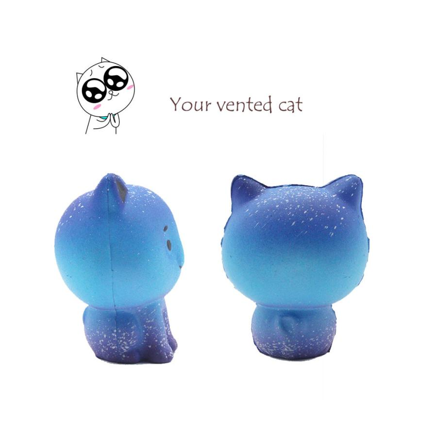 Jumbo Galaxy Cute Kitten Squishy Slow Rising Kids Toys Doll Stress Relief Toy Decor Strap Pendant Decompression Antistress Toys