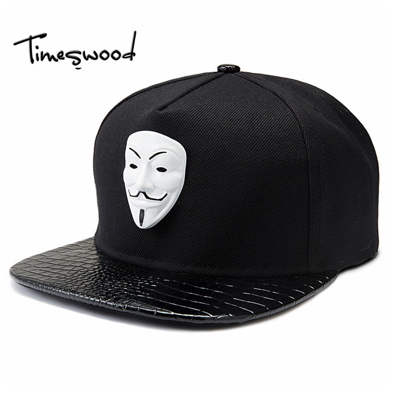 Punk Hip Hop Snapback Caps V For Vendetta Baseball Caps Black Hats Straight Brim Street Bboy Rapper Dancer MC DJ Skate Gorras стоимость