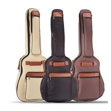 Shoulders thickening ballad guitar bag, wooden guitar backpack, 40 41 inch waterproof guitar bags