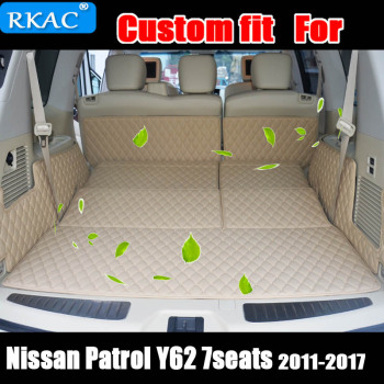 High quality Newly Special trunk mats for Nissan Patrol Y62 7seats 2018 durable cargo liner boot carpets for Patrol 2017-2011