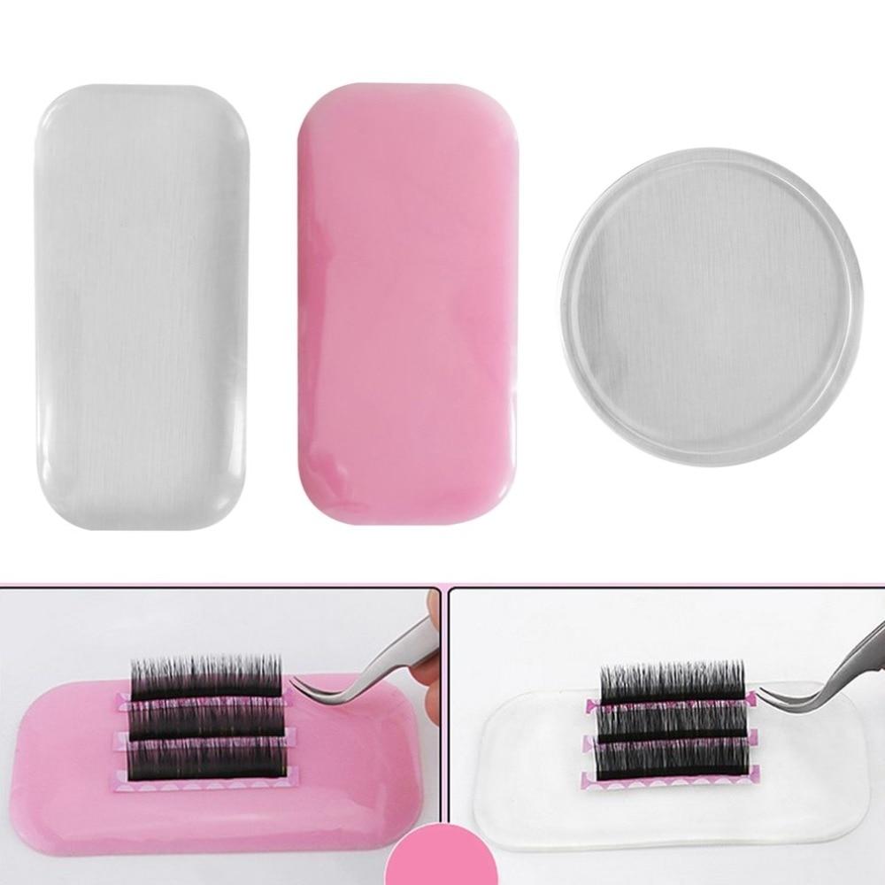 1PC Flexible Silicone Eyelash Extension Stand Pallet Pad Lash Tray Holder Tool Reusable Individual Eyelashes Easy Pick Up Tool