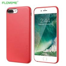 Floveme полной защиты Чехол для iPhone 6 6 S 7 плюс роскошный Бизнес искусственная кожа тонкая крышка для iPhone 7 6 6 S плюс Капа Интимные аксессуары