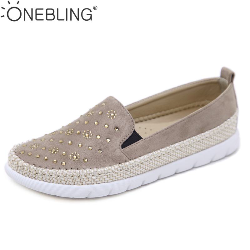 One Bling Women Flats Loafers Autumen Crystal Rhinestone Platform Shoes Moccasins Straw Cane Hemp Fisherman Shoes Plus Size dc shoes ремень dc shoes chinook washed indigo fw17 one size