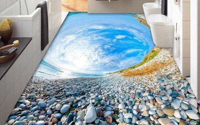 Foto d piastrelle carta da parati pebble spiaggia cielo d piano