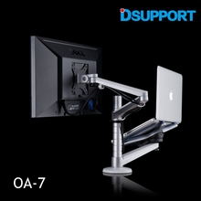 OA-7 Multimedia Desktop 25 inch LCD Monitor Holder+ Laptop Holder Stand Table Dual Monitor Mount Arm Bracket Stand Base