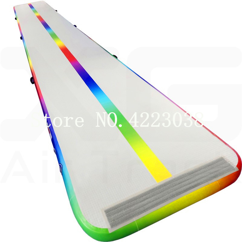 Free Shipping 8*2*0.2m Airtrack,6m,7m Gymnastic Inflatable Air Track Gymnastics Tumbling Mat with Electric Air Pump