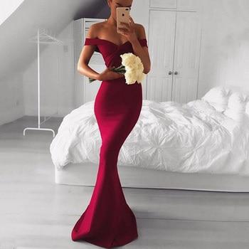 Trust LinDa Glamorous Burgundy Mermaid Bridesmaid Dresses Cap Sleeve Simple Party Wear Dress Custom Made Prom Gowns