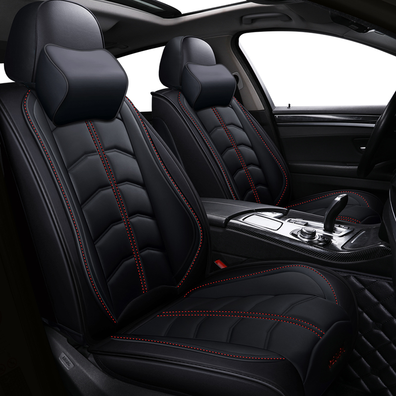 New Sports PU leather auto car seat covers for Audi all models a3 a8 a4 b7 b8 b9 q7 q5 a6 c7 a5 q3 car styling car accessoriesAutomobiles Seat Covers   -