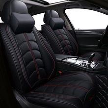 New Sports PU leather auto car seat covers for Audi all models a3 a8 a4 b7 b8 b9 q7 q5 a6 c7 a5 q3 car styling car accessories