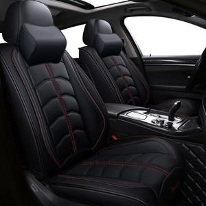 Image 1 - Nieuwe Sport Pu Lederen Auto Stoelhoezen Voor Audi Alle Modellen A3 A8 A4 B7 B8 B9 Q7 Q5 a6 C7 A5 Q3 Auto Styling Auto accessoires