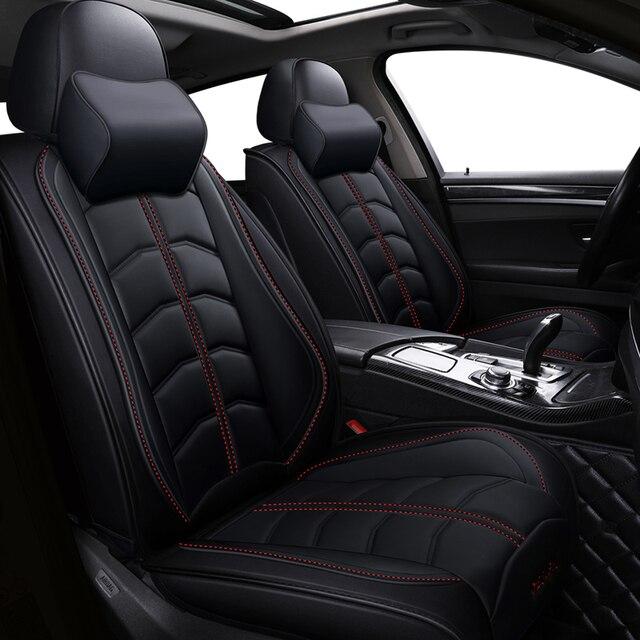 Nieuwe Sport Pu Lederen Auto Stoelhoezen Voor Audi Alle Modellen A3 A8 A4 B7 B8 B9 Q7 Q5 a6 C7 A5 Q3 Auto Styling Auto accessoires
