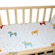 2019 Hot Sale Baby Crib Sheets 100% Cotton Fitted Crib Sheets Portable Bed Sheets Soft Skin-friendly Baby Bed Mattress Cover