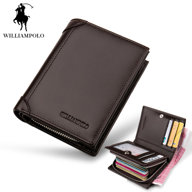 2018 NEW Genuine Leather Men Wallets Short Coin Purse Small Vintage Wallet Cowhide Leather Card Holder Pocket Purse Men Wallets 2017 new wallet small coin purse short men wallets genuine leather men purse wallet brand purse vintage men leather wallet page 2