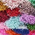 250 шт 3 мм Мини стемен цветок Двойные наконечники Stamen Искусственные цветы «сделай сам» ремесленные аксессуары для скрапбукинга для свадебно...