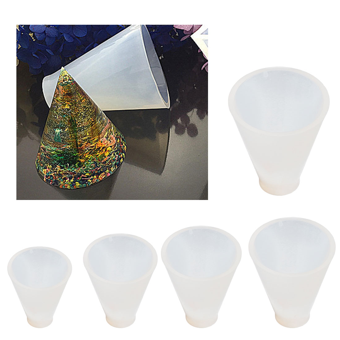 Triangular Pyramid Jewelry Making Tools Mold Pendant Silicone Resin Craft DIY Silicone Mold For Resin