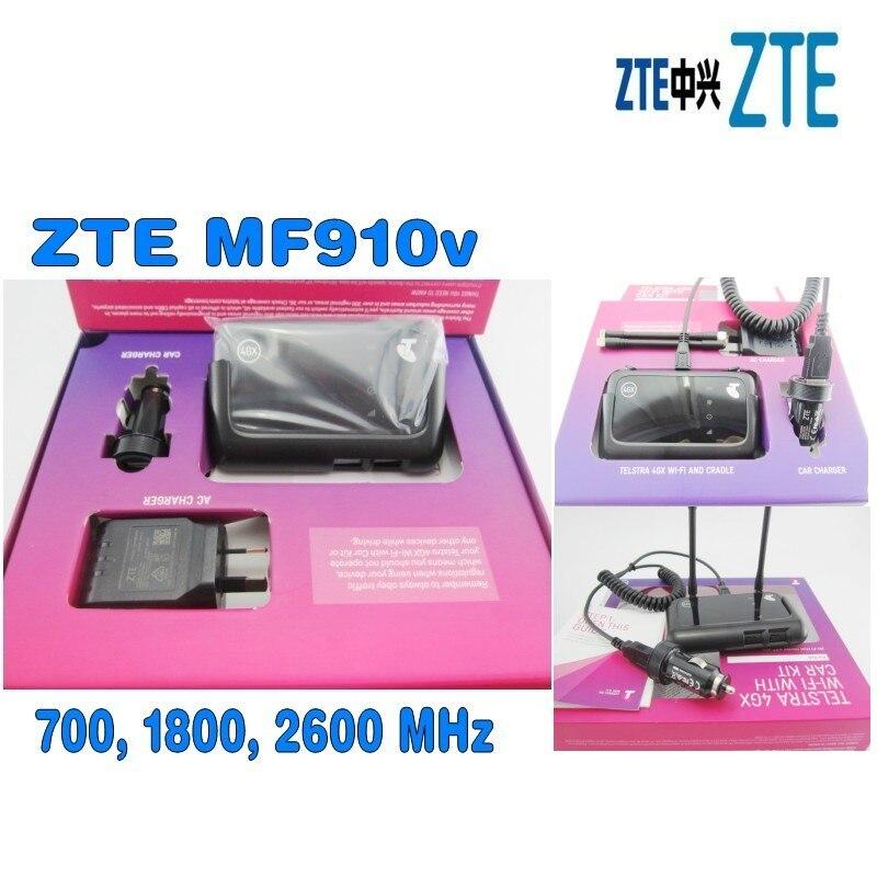 Telstra 4GX Wi-Fi with Car Kit MF910V Mobile Hotspot Plus 2pcs 4g antenna цена