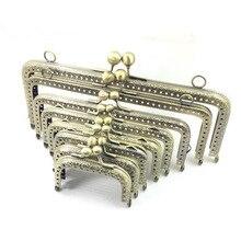 10 шт., 6,5, 7,5, 8,5, 10,5, 12,5, 15, 18, 20 см, металлическая пряжка для сумки, ручная работа, металлическая рамка для кошелька с замком поцелуя, свадебная рамка для клатча