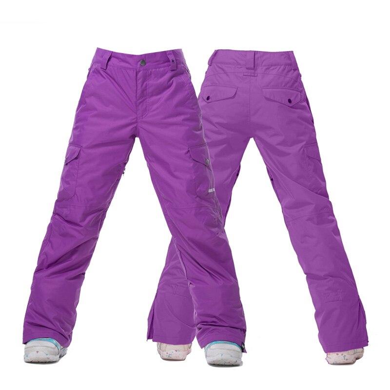 GSOU SNOW Brand femmes pantalon de Ski imperméable coupe-vent pantalon de Ski hiver extérieur respirant chaud femme Snowboard Sport pantalon - 5