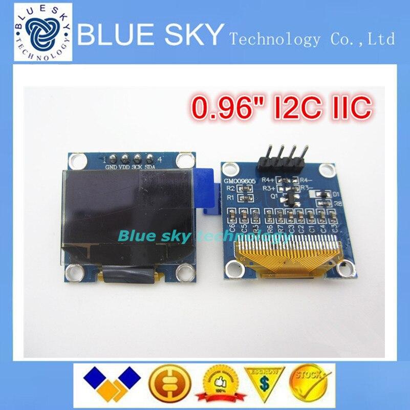 New 1pcs white 128x64 oled lcd 0 96 i2c iic spi serial new original