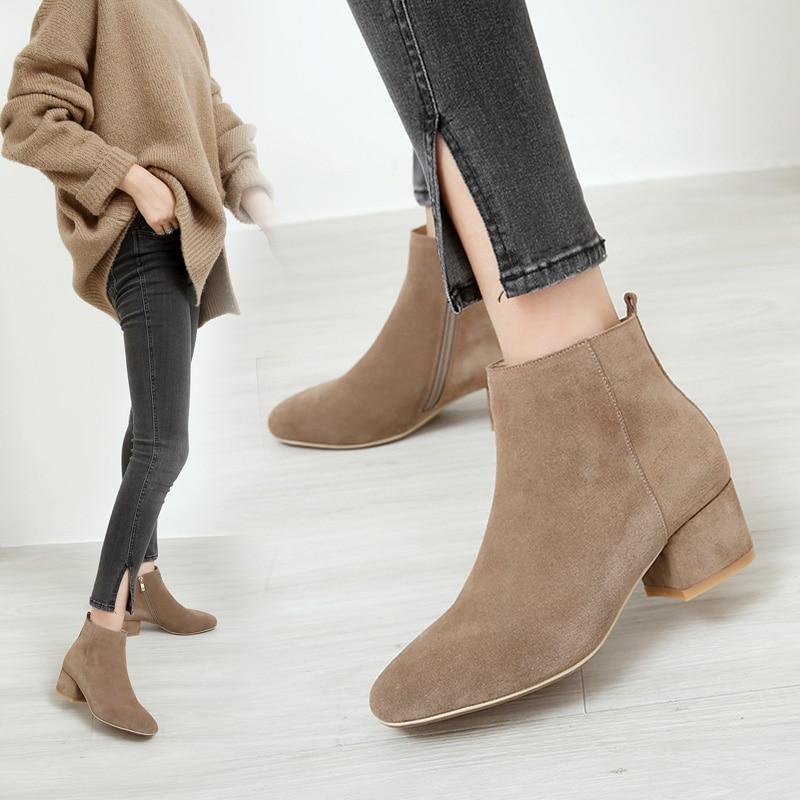 MYCOLEN 2018 Women Autumn Winter Shoes New Fashion Elegant Ankle Length Boots Peep Toe Women Boots bottes femmes en cuir frank g slaughter femmes en blouse blanche