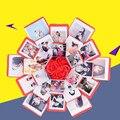 DIY взрыв коробка подарок Сюрприз любовь Бумага коробка посылка ручной работы памяти Скрап для женитьбы фотоальбом Свадебные Юбилей подарки...