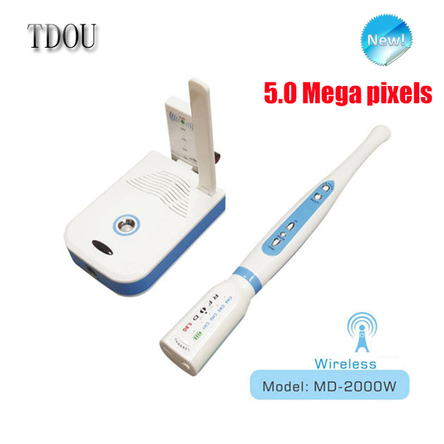 Can U Disk Storage And Wifi Wireless CCD Dental Intraoral Camera 5.0 Mega Pixels MD-2000W Free Shipping