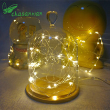 2m 20LED Copper Wire String Light Valentines Wedding Decoration Lamp Party Christmas Decorations for Home New