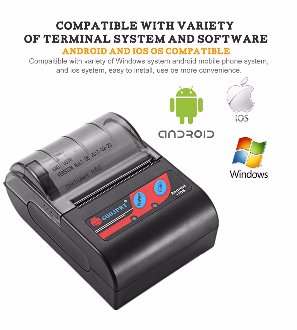 MTP 2 Bluetooth Mini wireless thermal printer portable printer (5)