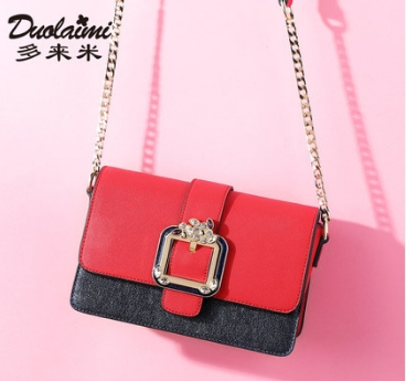 Princess sweet lolita bag Summer and spring Korean vision shoulder bag all match chain pure color small square bag DLM043 все цены
