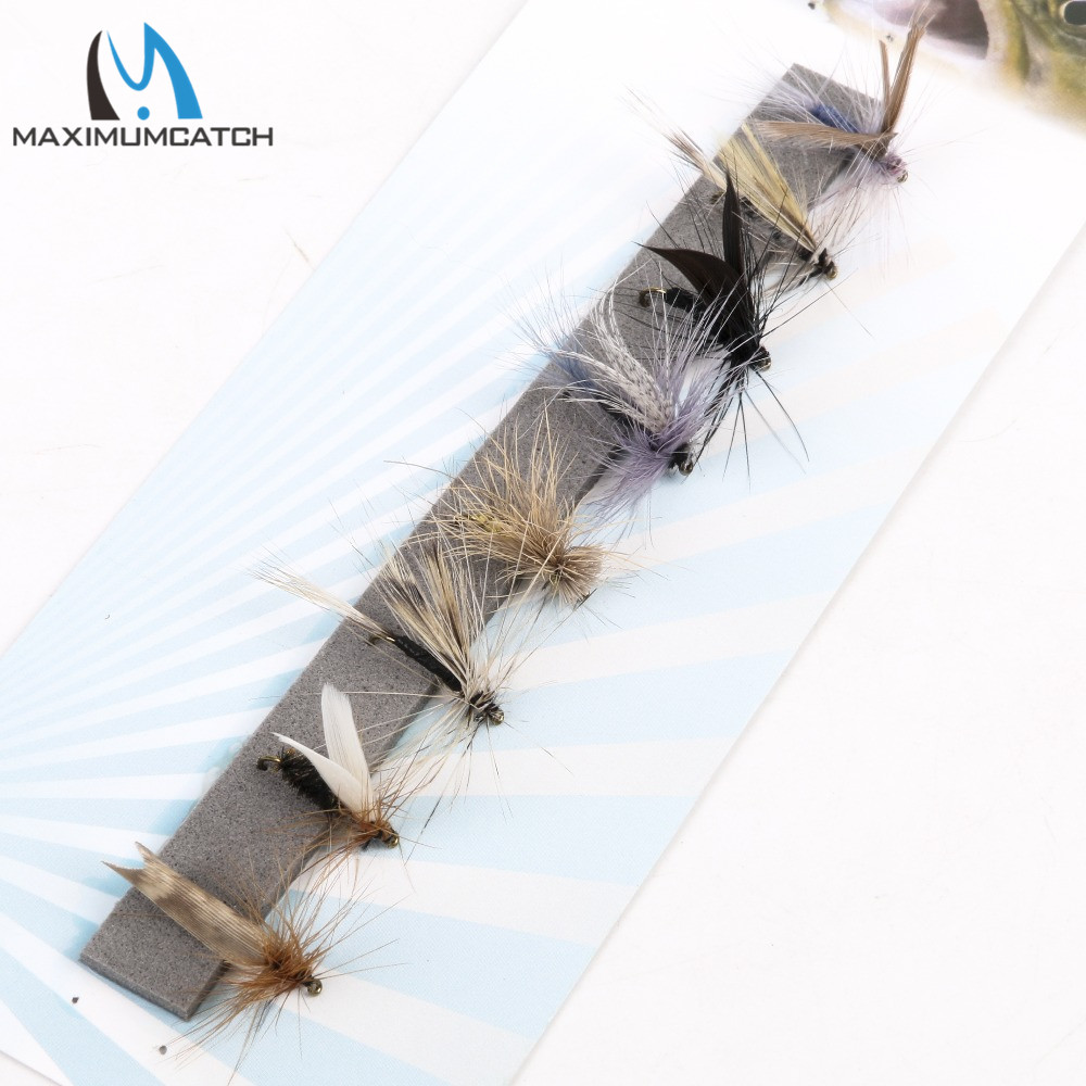 Maximumcatch Fly Fishing Dry Flies #14 Assortment 8 Patterns Deluxe Kit redfish seatrout fly assortment collection of 6 holly flies
