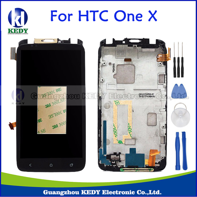 For HTC ONE X / XL S720e G23 LCD Display Touch Screen Digitizer Assembly With Frame Replacement Parts+Tools