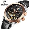 Luxury Brand CADISEN Mechanicl Watches Men Waterproof Skeleton 8 Stylish Fashion Automatic Self-Wind Watches Gold Clock reloj