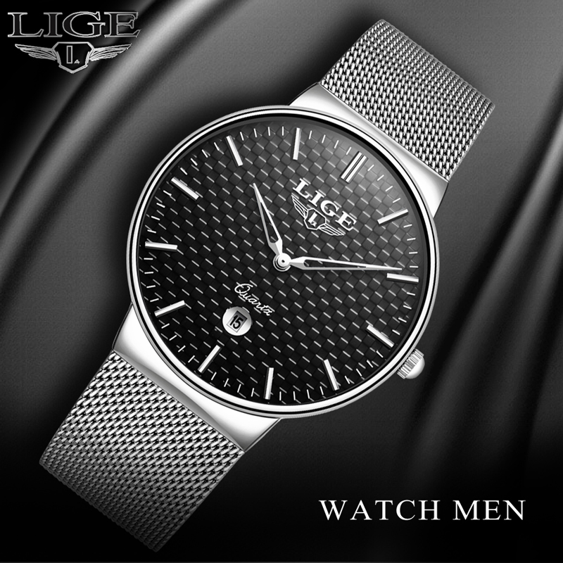 2018 Men Watch Top Brand LIGE Luxury Men Watches Men Business Quartz Watch Male Date Waterproof Gold Clock Man Relogio Masculino men watch top luxury brand lige men s mechanical watches business fashion casual waterproof stainless steel military male clock