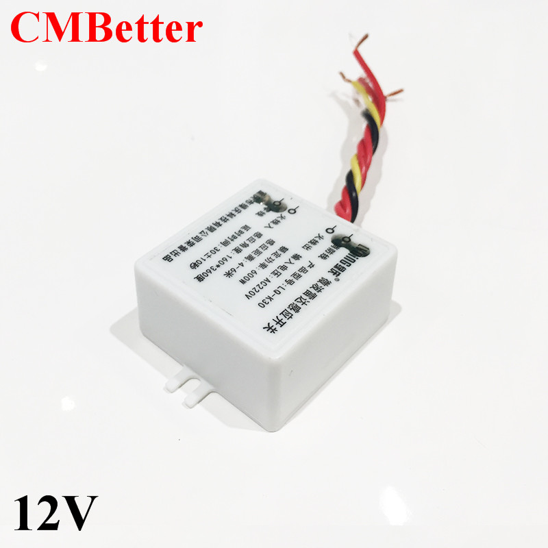 CMBetter Microwave Motion Sensor Switch Doppler Radar Wireless Module for Lighting DC12V 360 Degree 5.8GHz Security microwave imaging for security applications