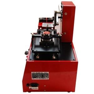 Image 3 - Pulpit elektryczny podkładka pod drukarkę maszyna drukarska na datę produktu mały nadruk logo + płyta Cliche + podkładka gumowa