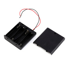 Free shipping by DHL Battery Cover Box Plastic Holder with ON/OFF Switch for 4 x AA 1.5V Batteries 100pcs/lot Hot