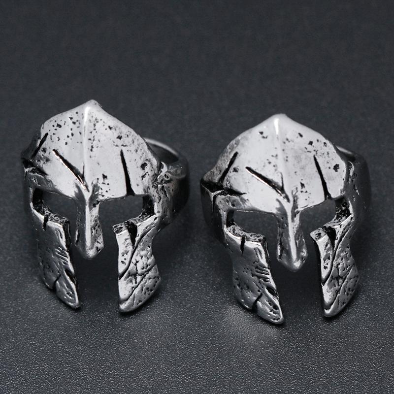 Spartan Hero Helmet Mask Ring