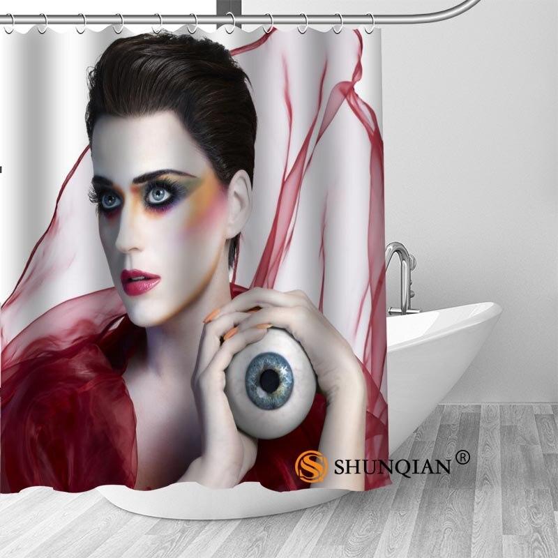 Custom Katy Perry Curtain Fabric Modern Shower Curtain bathroom beautiful Curtains Bath decor