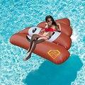 140*120 cm Taburete Inflable Gigante Piscina Flotador 2017 Más Reciente prueba de Agua Divertido Juguete Juguetes Al Aire Libre Tumbona Playa Bordo colchón Piscina
