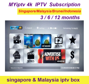 Renew Myiptv yearly subscription Myiptv4K for Malaysia Singapore Thailand Australia New Zealand Global use(China)