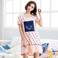 Big Sales Brand Sleepshirts Cute Pink Dress Sleep Nightgown Women Modal Sleepshirts Sweet Sleepwear Casual Lounge Dresses