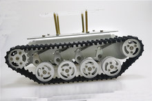 Metal Shock Absorper Smart Robot Tank Chassis With Dual DC Motor Plastic Tracks Aluminum Alloy Wheels For Arduino Project TS100(China)