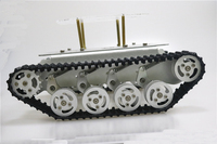 Metal Shock Absorper Smart Robot Tank Chassis With Dual DC Motor Plastic Tracks Aluminum Alloy Wheels For Arduino Project TS100